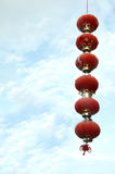 Lampion rouge chinois Photo libre de droits