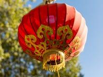 Lampion rouge chinois Photo stock