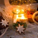 Lampion van schoonheidskerstmis Stock Foto's