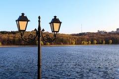 Lampion w dolinnym parku m?yny fotografia royalty free
