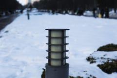 Lampion w parku obraz stock