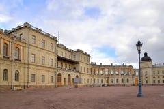 Lampion w podwórzu Uroczysty pałac w Gatchina Obraz Stock