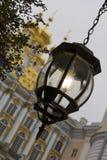 Lampion w starym stylu Catherine pałac, Tsarskoye Se Zdjęcie Royalty Free