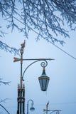 Lampion w zimie zdjęcie stock