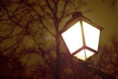 Lampion zaświecający up przy nocą Fotografia Stock
