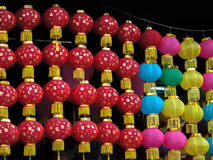 LAMPIONS COLORÉS À VENDRE Photographie stock