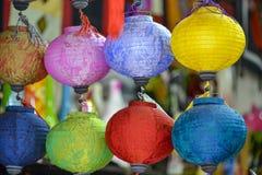 Lampions colorés Image libre de droits