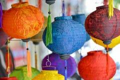 Lampions colorés Photographie stock