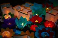 Lampions colorés Photo stock