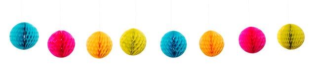 Lampions colorés Images stock