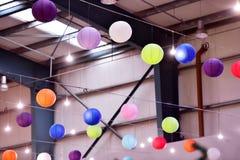 Lampions colorés de lanterne Photos libres de droits