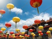 Lampions colorés en Hong Kong Image stock