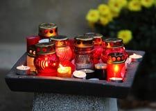 Lampions con la candela immagine stock