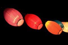 Lampions de papier colorés Image stock