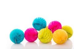 Lampions ronds colorés Image libre de droits