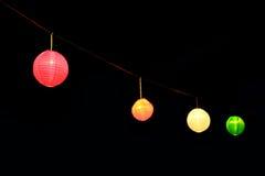 Lampions traditionnels colorés Photo stock