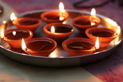 Lampiony Diwali zdjęcia stock