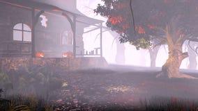 Lampiony na ganeczku straszny dom