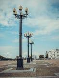Lampiony na kwadracie Zdjęcie Royalty Free