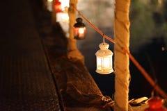 Lampiony przy jeziorem fotografia royalty free