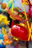 Lampiony przy W połowie jesień festiwalem w ogródzie zatoką, Singapur zdjęcia stock