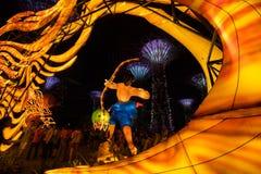 Lampiony przy W połowie jesień festiwalem w Singapur obrazy royalty free