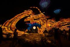 Lampiony przy W połowie jesień festiwalem w Singapur obrazy stock