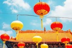 Lampiony przy Wong Tai grzechu świątynią w Hongkong Zdjęcia Stock