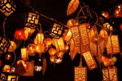 Lampiony wiesza od sufitu Fotografia Stock