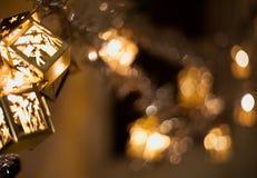 Lampiony z świętymi gałązkami Obrazy Royalty Free