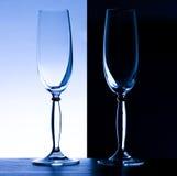 lampki szampana, umowę plastikową 2 okulary Fotografia Royalty Free