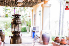 Lamplight. The old lamplight for decoration Royalty Free Stock Images