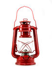 Lamplight. Old style lantern on white background Royalty Free Stock Image