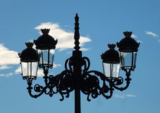 Lamplight In Prado Square Royalty Free Stock Photos