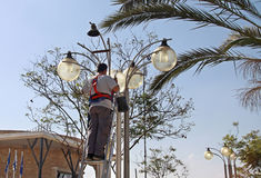 lamplighter Foto de archivo libre de regalías