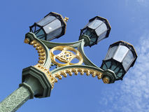 lamplightinglondon gata Arkivfoto