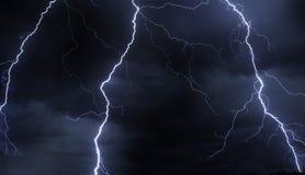 Lampo in cielo tempestoso Fotografia Stock Libera da Diritti