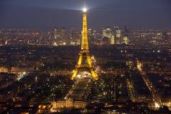 Lampo della Torre Eiffel Immagine Stock