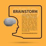 Lampo di genio, concetto del fondo di pensiero creativo illustrazione di stock