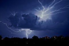 Lampo nel cielo Fotografia Stock
