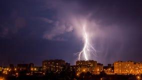 Lampo nella notte Fotografia Stock Libera da Diritti
