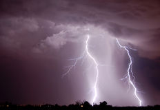 Lampo - Tucson, AZ Fotografia Stock