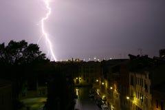 Lampo a Venezia Immagine Stock