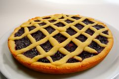 Lampone Crostata - torta italiana Fotografie Stock Libere da Diritti