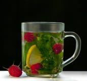 Lampone del limone della menta del tè Immagini Stock Libere da Diritti