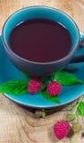 Lampone del tè - primo piano Fotografia Stock