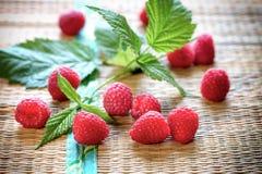 Lampone organico fresco - alimento sano, antiossidante sano immagini stock