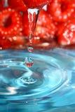 Lamponi ed acqua dolce Fotografia Stock Libera da Diritti