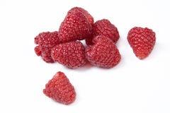 Lamponi freschi del berrie su bianco fotografie stock libere da diritti