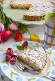 Lamponi Torta alle mandorle ε Στοκ εικόνα με δικαίωμα ελεύθερης χρήσης